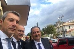 Lorenzo Cesa e Antonio De Poli a Rocca di Caprileone (Me) con Nino Calà